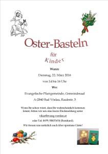 Osterbasteln Plakat